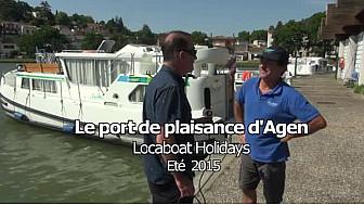 Canal des Deux Mers et garonne: Le port d'Agen et les pénichettes Locaboat Holidays.